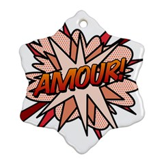 Comic Book Amour! Snowflake Ornament (2 Side)