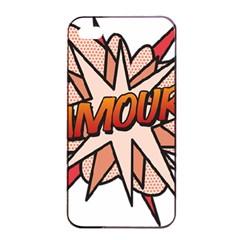 Comic Book Amour! Apple iPhone 4/4s Seamless Case (Black)