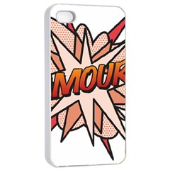 Comic Book Amour! Apple iPhone 4/4s Seamless Case (White)