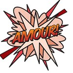 Comic Book Amour! #1 MOM 3D Greeting Cards (8x4)  Inside