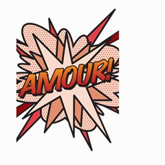 Comic Book Amour! Small Garden Flag (two Sides)