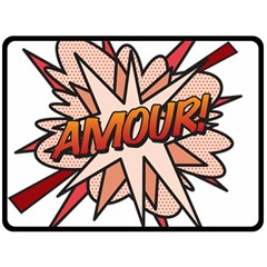 Comic Book Amour! Double Sided Fleece Blanket (Large)