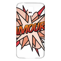 Comic Book Amour! Samsung Galaxy S5 Back Case (White)