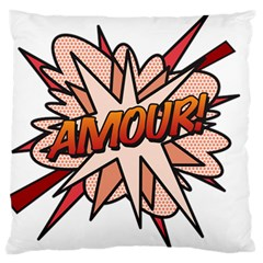Comic Book Amour! Large Flano Cushion Cases (Two Sides)