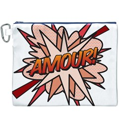 Comic Book Amour! Canvas Cosmetic Bag (XXXL)