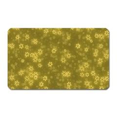 Snow Stars Golden Magnet (Rectangular)