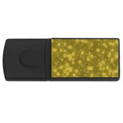 Snow Stars Golden USB Flash Drive Rectangular (1 GB)