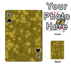 Snow Stars Golden Playing Cards 54 Designs
