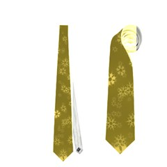 Snow Stars Golden Neckties (one Side)
