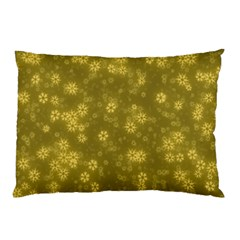 Snow Stars Golden Pillow Cases