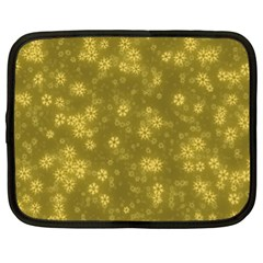 Snow Stars Golden Netbook Case (XL)