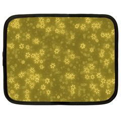 Snow Stars Golden Netbook Case (XXL)