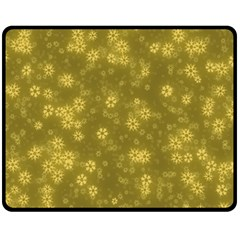 Snow Stars Golden Fleece Blanket (medium)