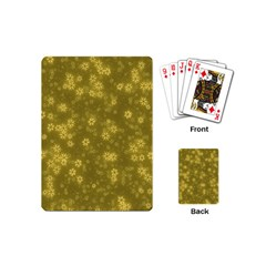 Snow Stars Golden Playing Cards (Mini)