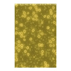 Snow Stars Golden Shower Curtain 48  x 72  (Small)