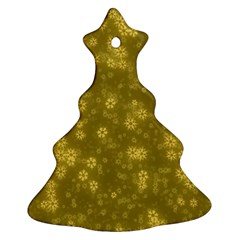 Snow Stars Golden Christmas Tree Ornament (2 Sides)