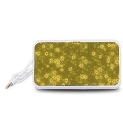 Snow Stars Golden Portable Speaker (White)