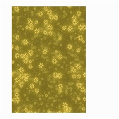 Snow Stars Golden Small Garden Flag (two Sides)