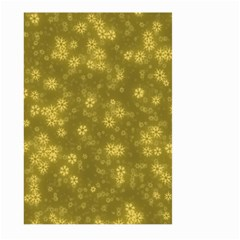 Snow Stars Golden Large Garden Flag (two Sides)