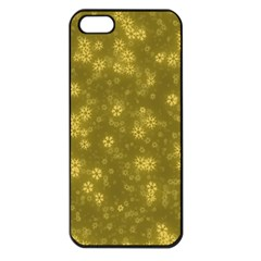 Snow Stars Golden Apple iPhone 5 Seamless Case (Black)