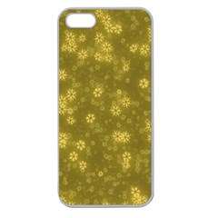Snow Stars Golden Apple Seamless iPhone 5 Case (Clear)