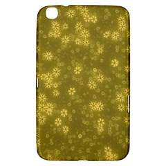 Snow Stars Golden Samsung Galaxy Tab 3 (8 ) T3100 Hardshell Case