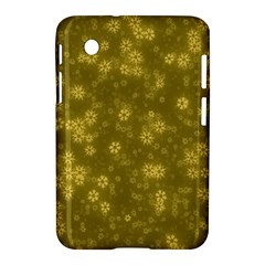 Snow Stars Golden Samsung Galaxy Tab 2 (7 ) P3100 Hardshell Case