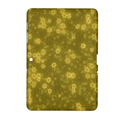 Snow Stars Golden Samsung Galaxy Tab 2 (10 1 ) P5100 Hardshell Case