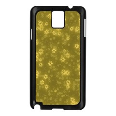 Snow Stars Golden Samsung Galaxy Note 3 N9005 Case (Black)