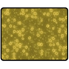 Snow Stars Golden Double Sided Fleece Blanket (medium)