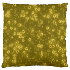 Snow Stars Golden Standard Flano Cushion Cases (two Sides)