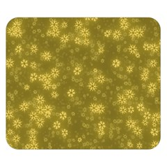 Snow Stars Golden Double Sided Flano Blanket (Small)