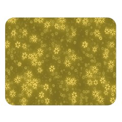 Snow Stars Golden Double Sided Flano Blanket (large)