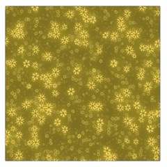 Snow Stars Golden Large Satin Scarf (Square)