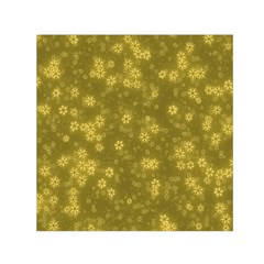 Snow Stars Golden Small Satin Scarf (square)
