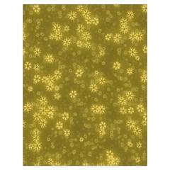 Snow Stars Golden Drawstring Bag (Large)