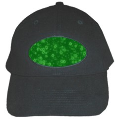 Snow Stars Green Black Cap