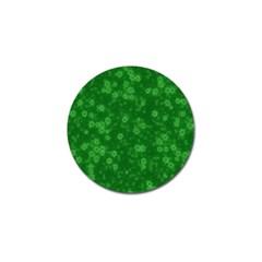 Snow Stars Green Golf Ball Marker (10 pack)