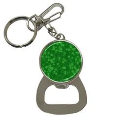 Snow Stars Green Bottle Opener Key Chains