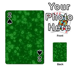 Snow Stars Green Playing Cards 54 Designs