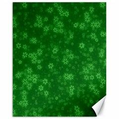 Snow Stars Green Canvas 16  x 20