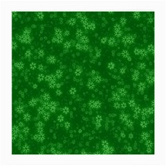 Snow Stars Green Medium Glasses Cloth
