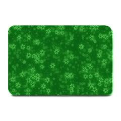 Snow Stars Green Plate Mats