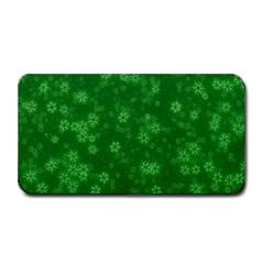 Snow Stars Green Medium Bar Mats