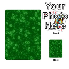 Snow Stars Green Multi Purpose Cards (rectangle)