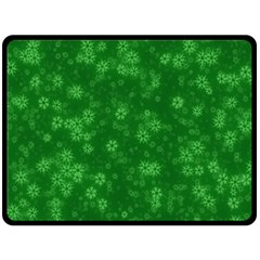 Snow Stars Green Fleece Blanket (large)