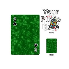 Snow Stars Green Playing Cards 54 (Mini)