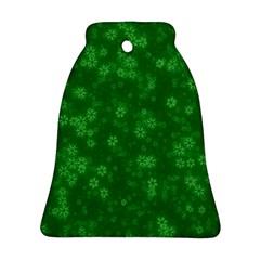Snow Stars Green Ornament (Bell)
