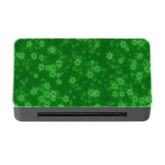 Snow Stars Green Memory Card Reader with CF