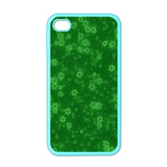 Snow Stars Green Apple iPhone 4 Case (Color)